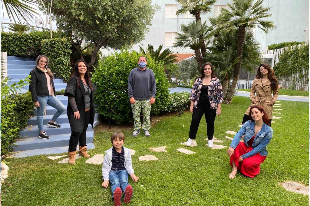 Il gruppo delle blogger per la prima tappa del blog tour a Santa Severa