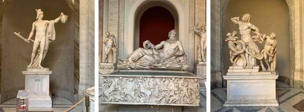 Tanta scultura nei Musei Vaticani