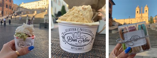 Il gelato della gelateria Don Nino a Roma