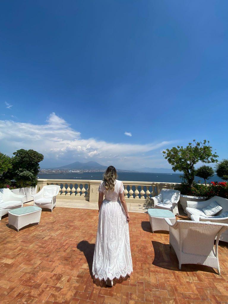 La terrazza dell'Hotel Excelsior Napoli