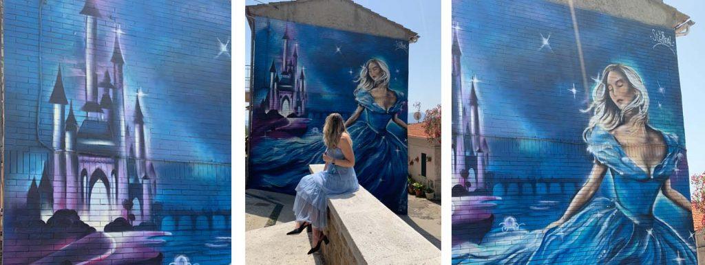 Sant'Angelo: il murales di Cenerentola