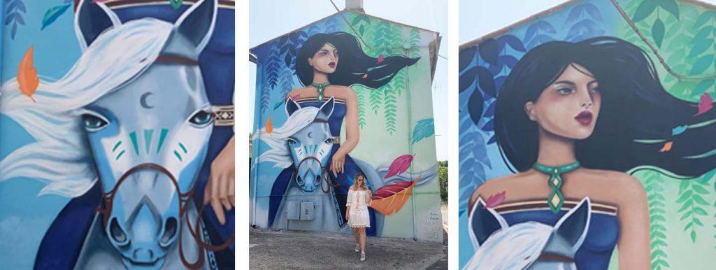 Sant'Angelo: il murales di Pocahontas