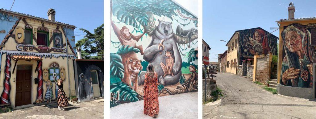 Alcuni dei dipinti di questo meraviglioso borgo incantato